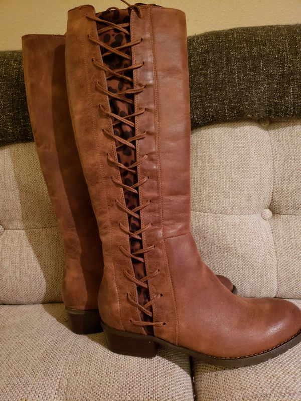 46c1069d9cd Fall Chestnut Tall Lace Up Boots for Sale in Nipomo, CA - OfferUp