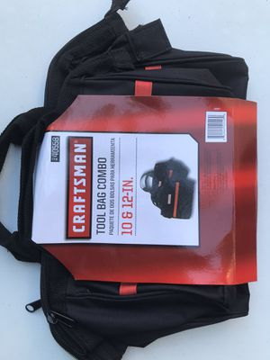 Photo CRAFTSMAN TOOL BAG 💼 COMBO 10 & 12-IN. BRAND NEW ((NUEVAS))$15