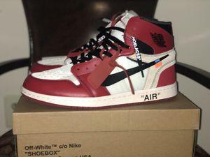"""Jordan 1 """"Off white Chicago"""" for Sale in Aspen Hill, MD"""