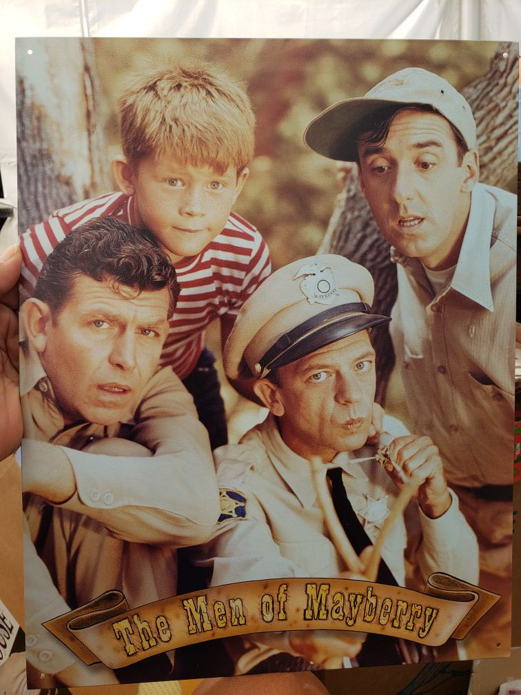 Andy Griffith Metal Sign