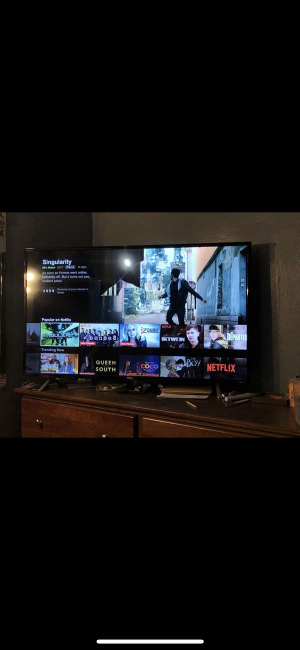 50 inch tcl smart tv small crack on screen still works for Sale in  Providence, RI - OfferUp