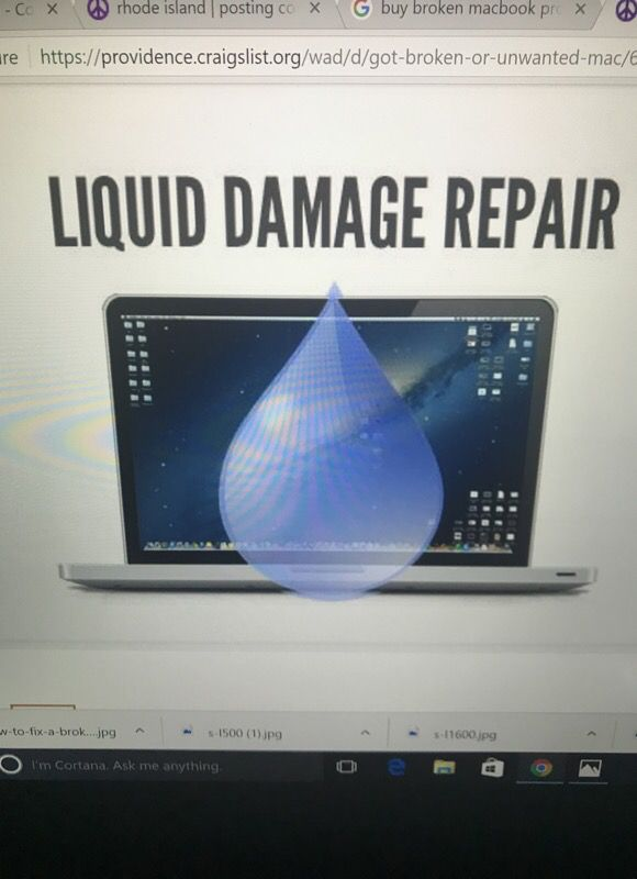 I buy broken or water damage apple laptops