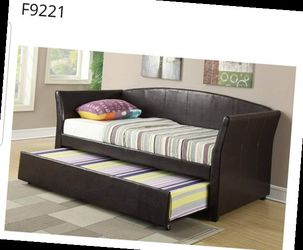 CLOSEOUTS LIQUIDATION SALE BRAND NEW TWIN SIZE DAY BED FRAME WITH TRUNDLE ADD MATTRESS ALL NEW FURNITURE PDX9221 MFUWU Thumbnail
