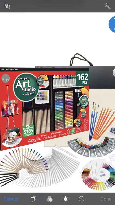 Daler Rowney 162 Piece Complete Art Studio With Easel New