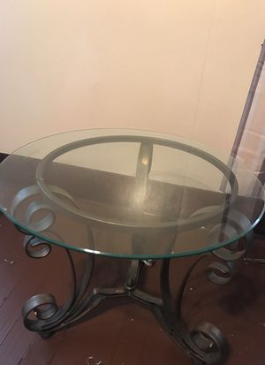 Breathtaking iron and glasstop night stand for Sale in Pittsburgh, PA