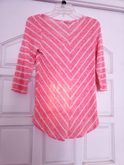 Pink High Low Half Sleeve Top Thumbnail