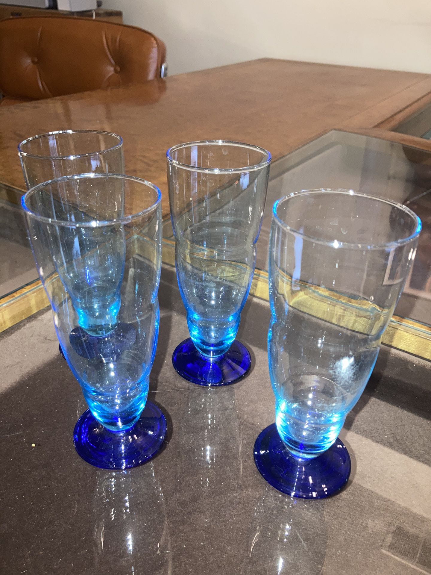 Vintage Cordial Glass Set (Blue)