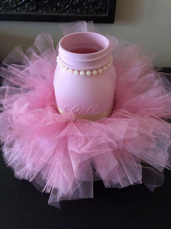 Mason Jars Pink Tutu Centerpieces Parkland Fl