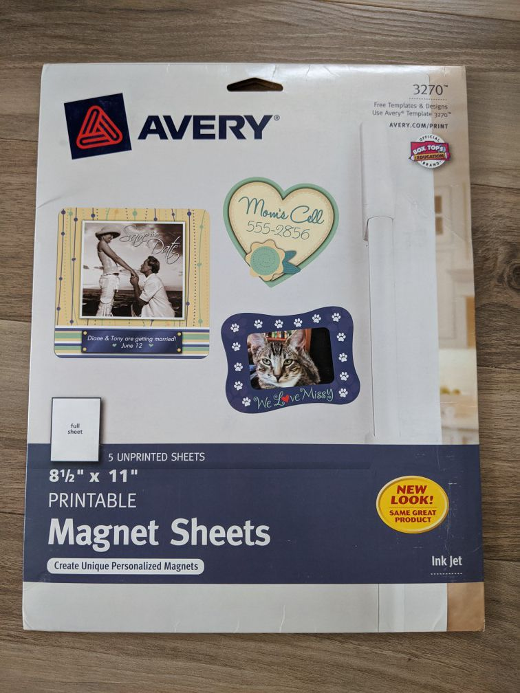 Magnet printable sheets Avery NEW