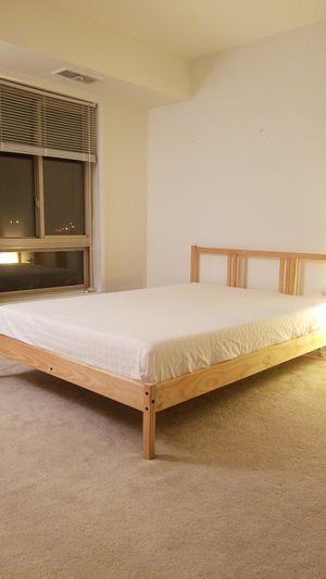 "IKEA full size bed frame and 8"" medium memory foam matttress for Sale in Alexandria, VA"