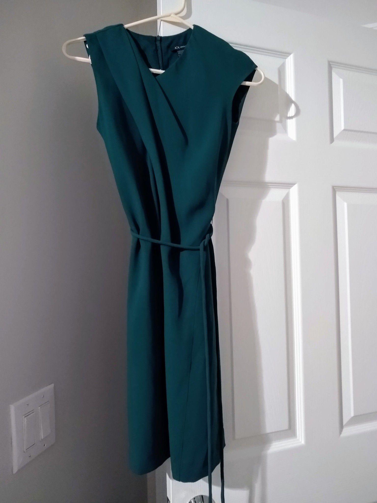 Armani Exchange Teal Dress Size 0