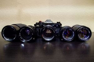 Canon A-1 35mm Film camera and lenses **EXCELLENT COND** for Sale in Anaheim, CA