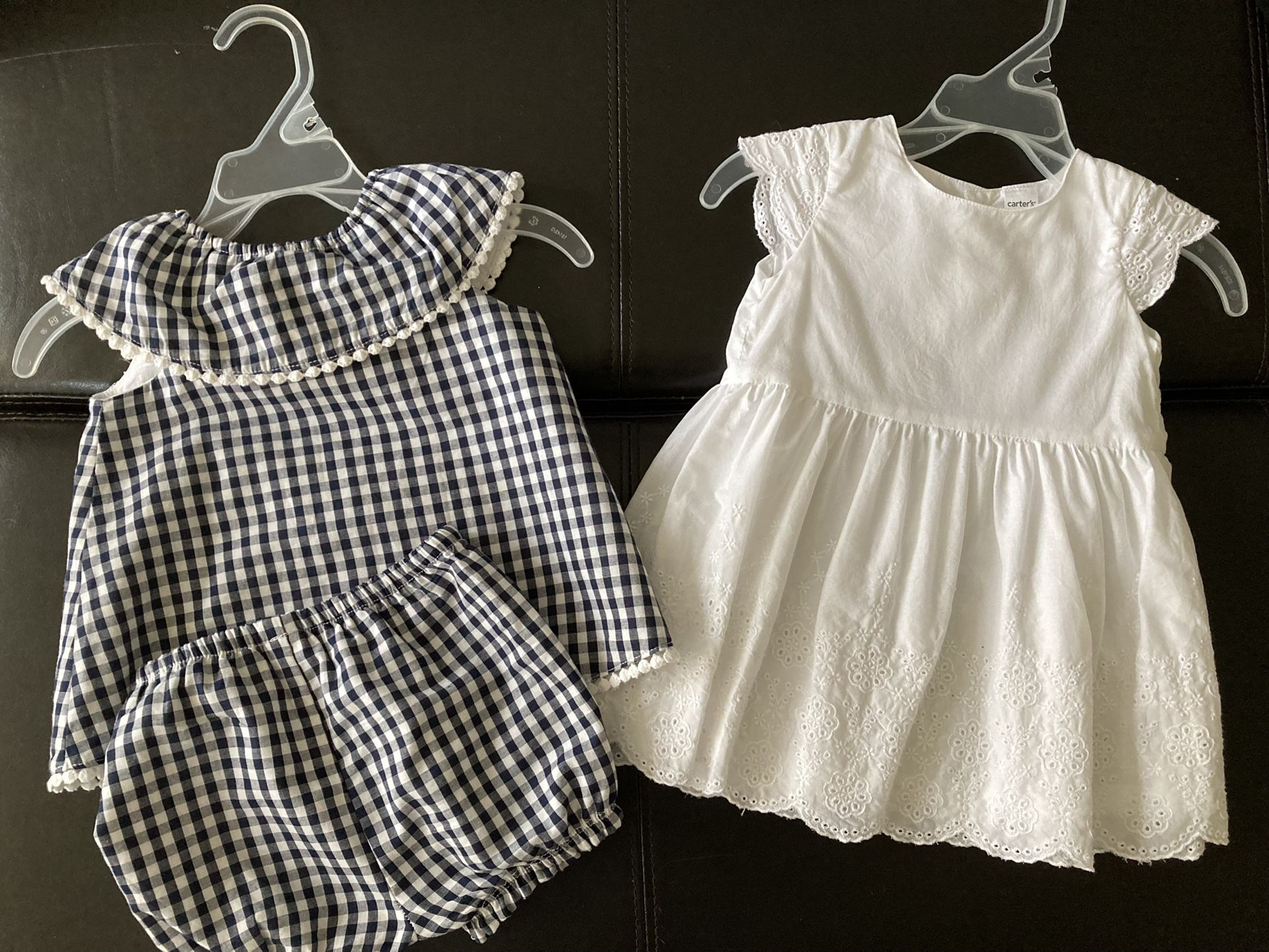 baby girl dresses size 9m $10 for both