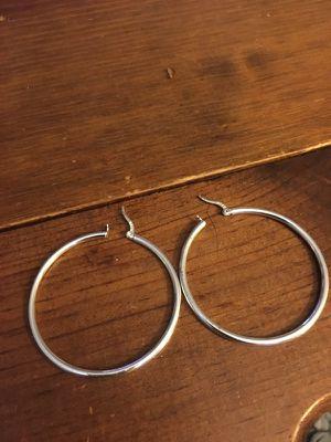 Silver hoop earrings for Sale in Chapel Hill, NC