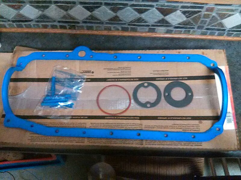 Photo New oil pan seal kit for a 350 Chevy motor