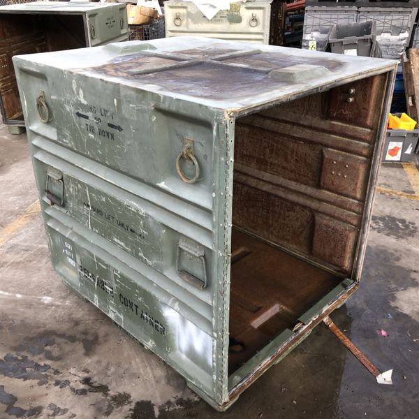 2 Milsurp Palcon Pallet Sized Containers Military Surplus