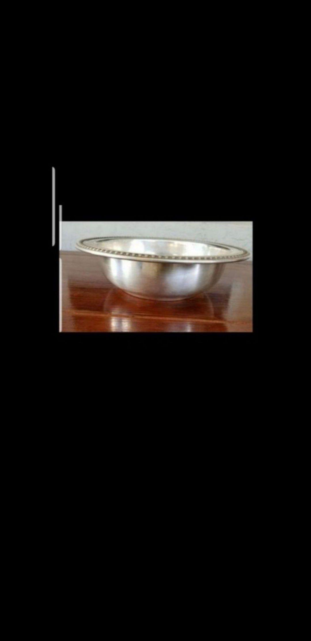 "Vintage Silver Large Round Bowl. D 11""."