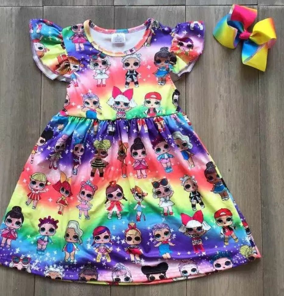 Lol surprise doll dress comes with bow