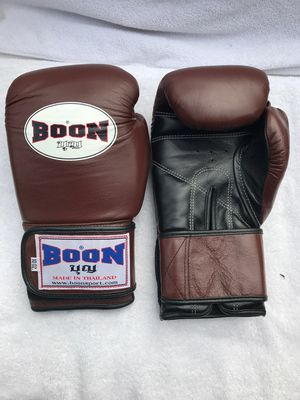 Special edition 12oz brown Boon pro boxing gloves for Sale in Montebello, CA