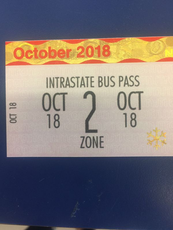 2 zone NJ transit monthly bus pass for Sale in Roselle, NJ - OfferUp