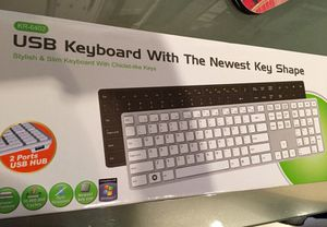 White/silver keyboard for Sale in Austin, TX