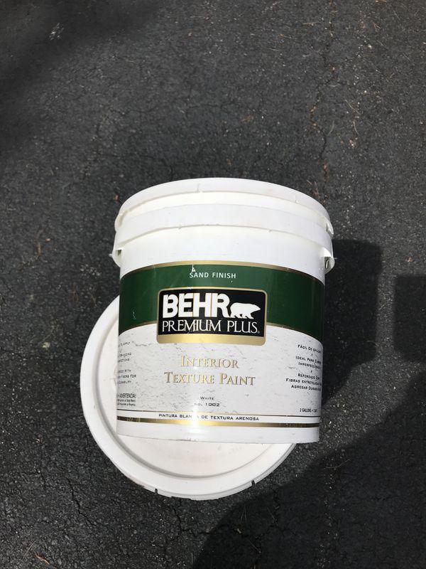 Valspar ultra paint primer flat about 2 gal Behr premium plus