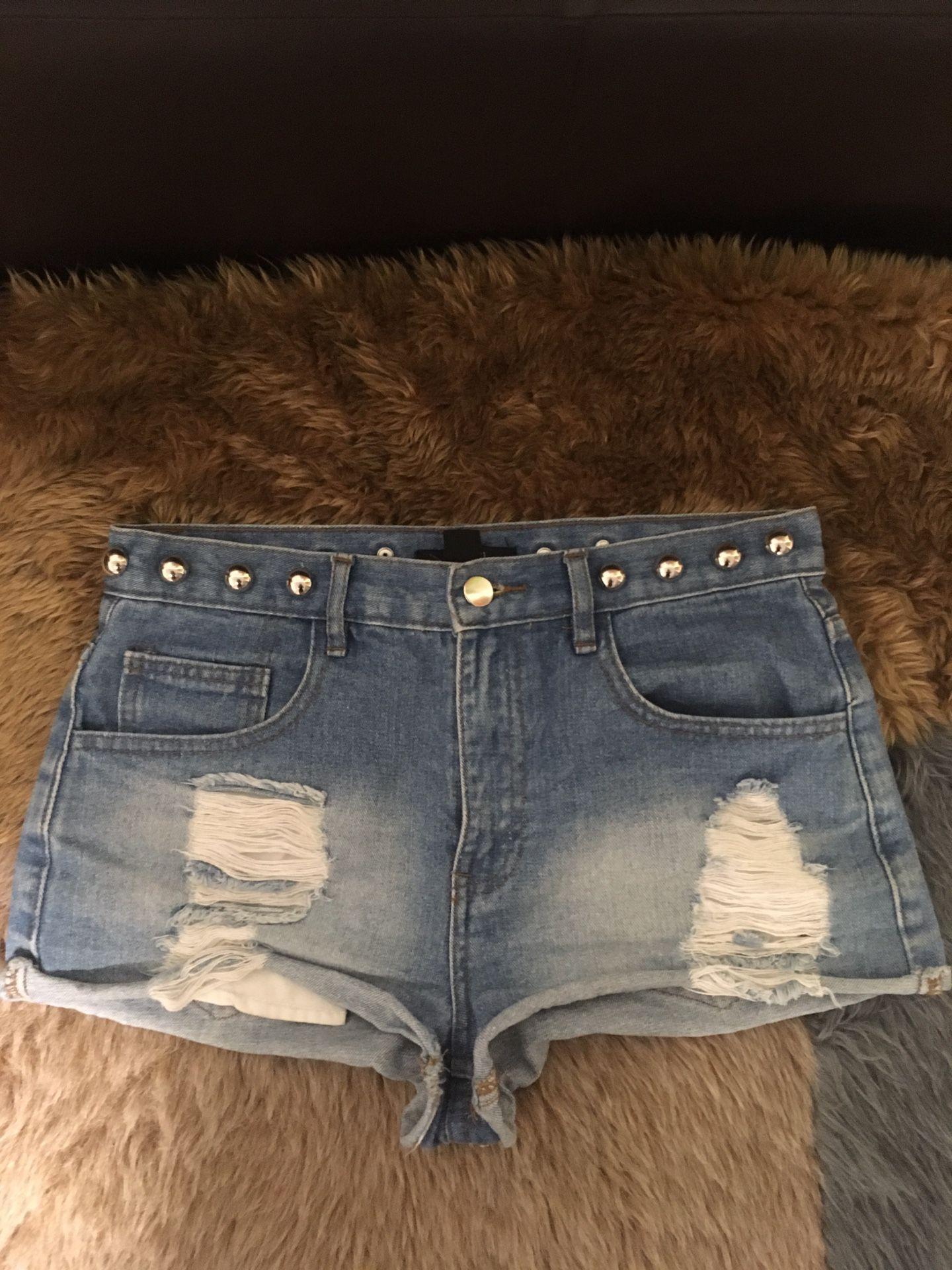 Size 27 high waisted shorts