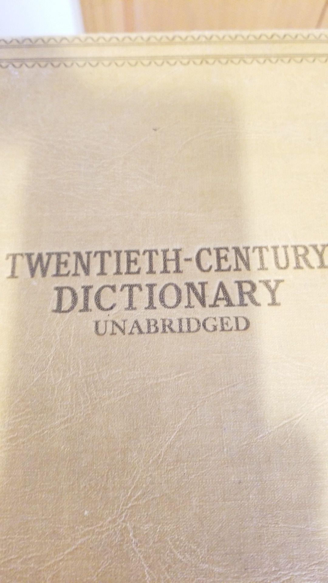 1938 Webster's Twentieth-Century Dictionary Unabridged