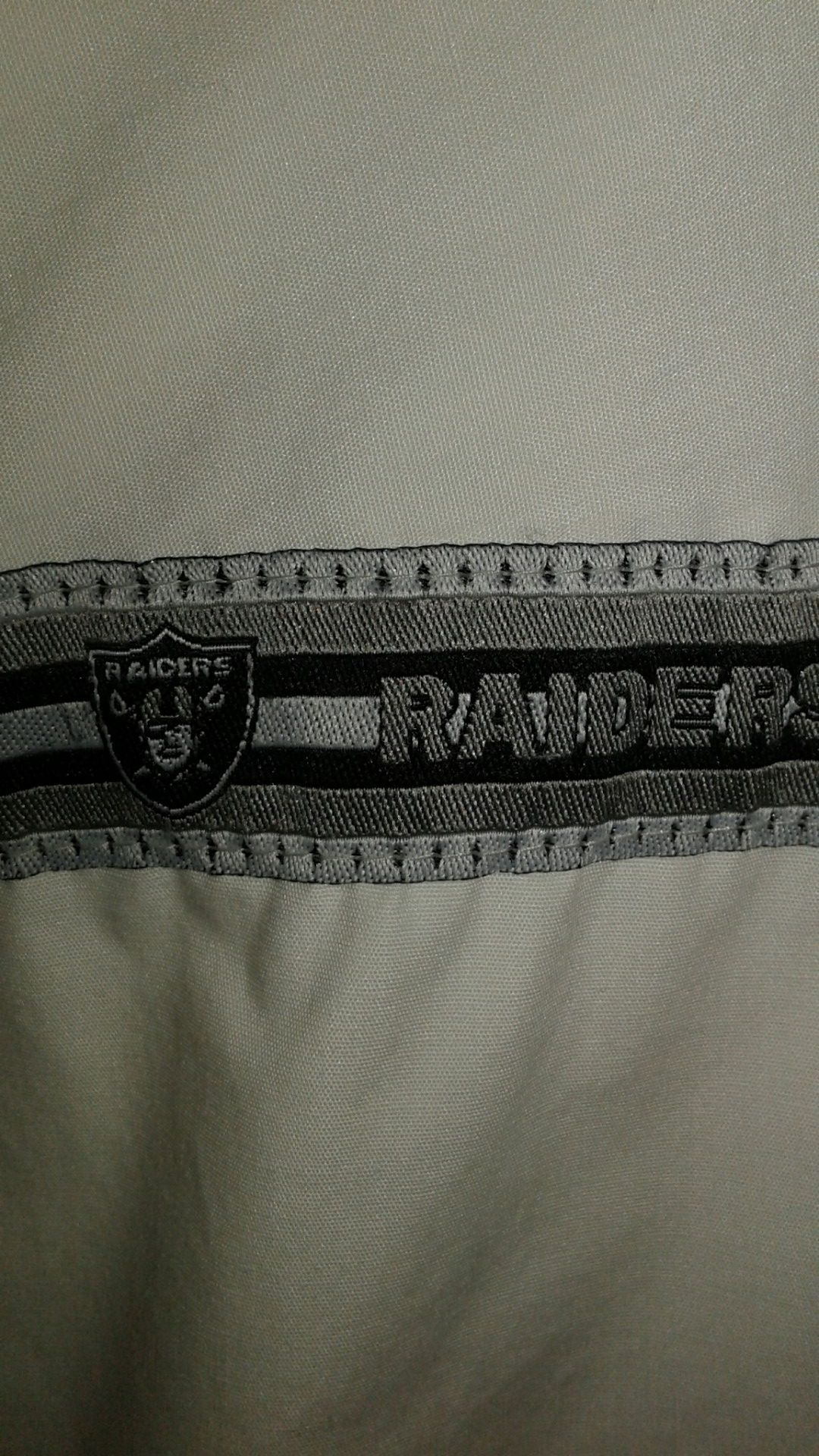 Vintage 90s RAIDERS pro player thin jacket white with Raiders
