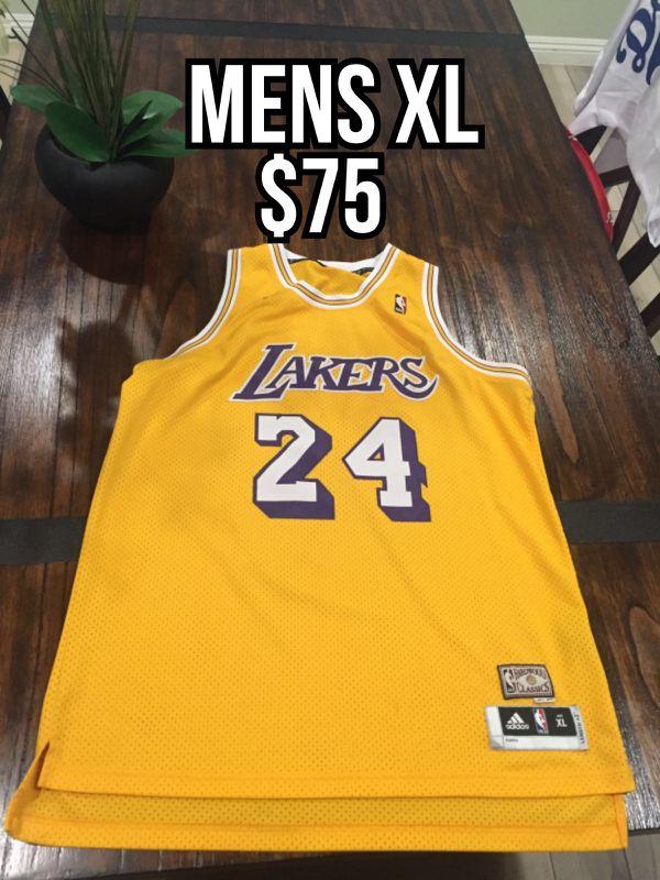 b7cf11cf58d NBA hardwood classic Los Angeles Lakers  24 Kobe Bryant yellow swingman throwback  jersey size xl
