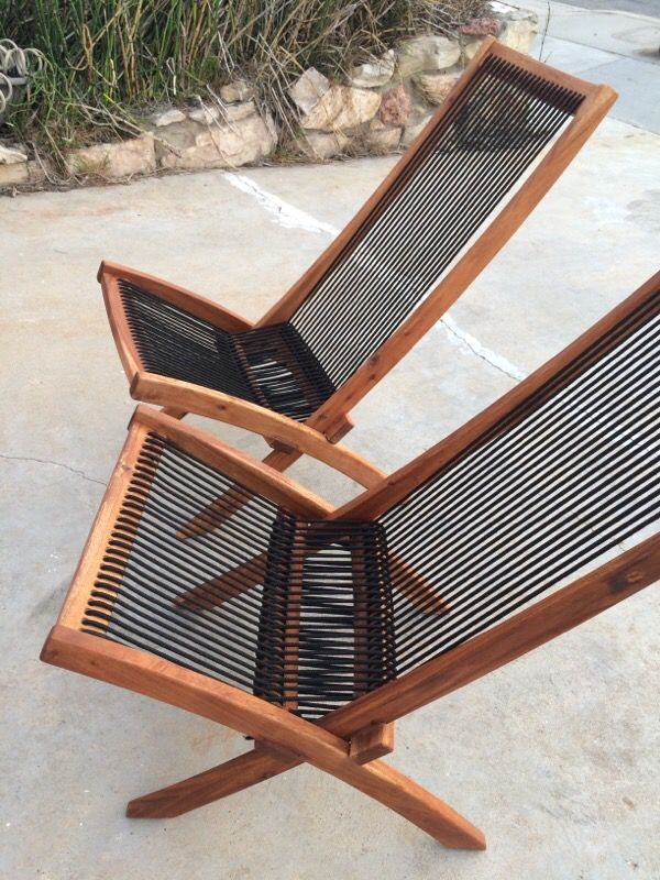 Unique Discontinued Ikea Brommö Chaise Lounge Patio Chairs 2 New