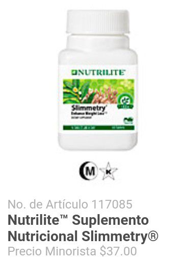 Slimmetry Enhance Weight Loss De Amway Nutrilite For Sale In Los Angeles Ca Offerup