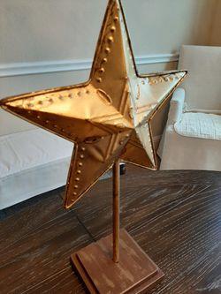Metal Texas Star on Stand Thumbnail