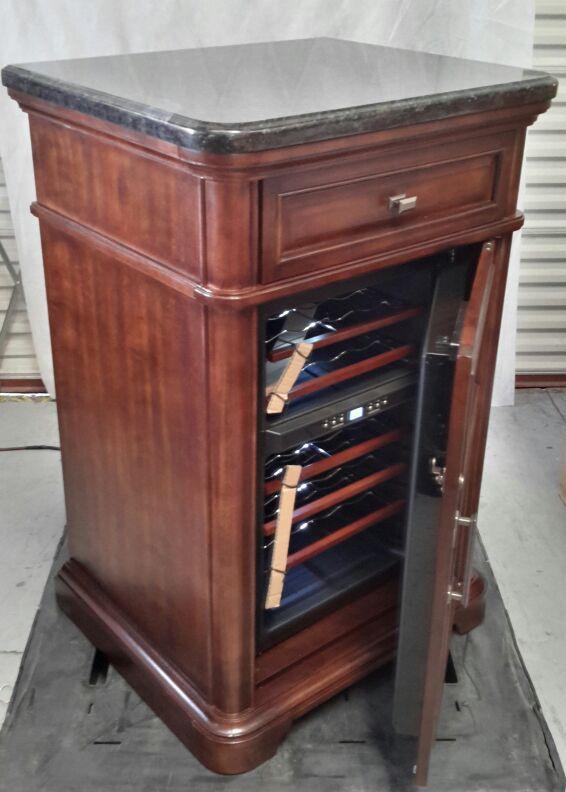 Tresanti 24 Bottle Dual Zone Wood Wine Cooler Fridge With