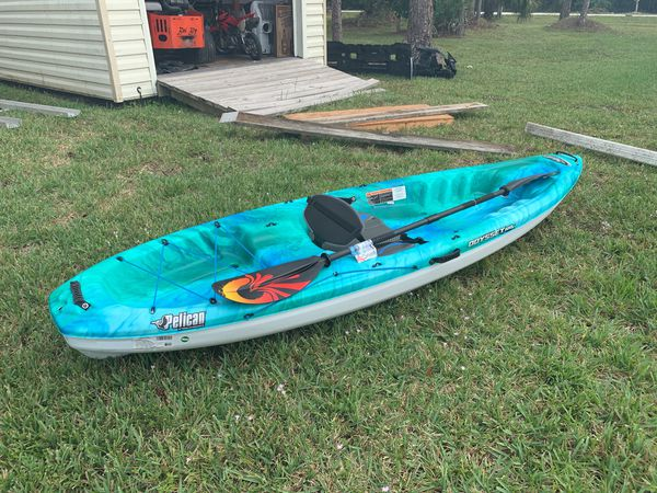 Pelican odyssey 100x Kayak with carbon fiber adj  paddle for Sale in  Loxahatchee, FL - OfferUp