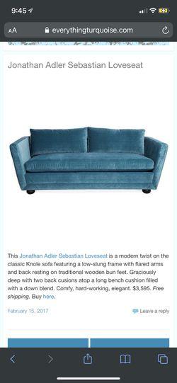 Jonathan Adler loveseat couch Thumbnail