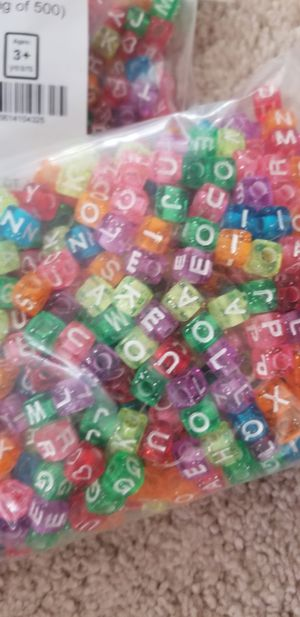 glitter alphabet beads 1500 beads!! for Sale in Derwood, MD