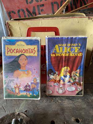Photo Black Diamond Disney VHS Alice in Wonderland and Pocahontas