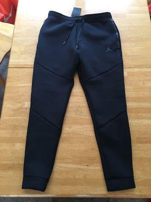 Brand new Nike air Jordan flight pants standard fit cotton polyester triple black medium M for Sale in La Mesa, CA
