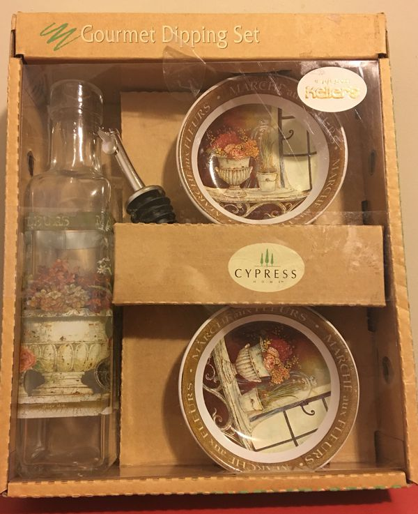 Kitchen, Dining & Bar Cypress Gourmet Dipping Set Home & Garden