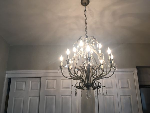 Pewter Crystal Chandelier For Sale In Las Vegas Nv Offerup