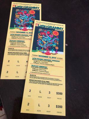 2 boletos para los grammy hoy for Sale in Las Vegas, NV