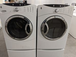 Photo GE Gas front load washer and dryer set 52