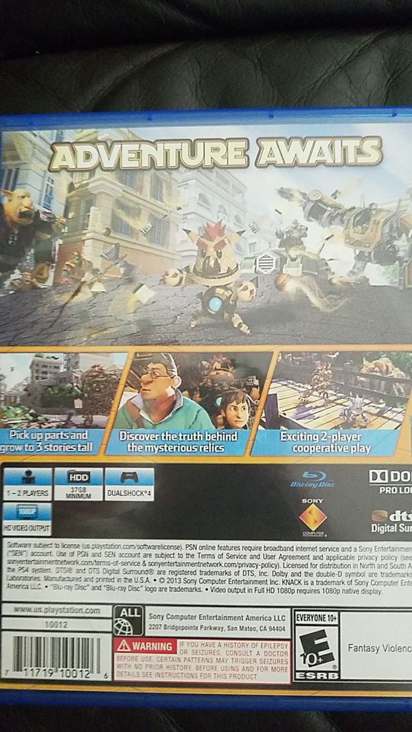 Ps4 Knack Video Games In Evergreen Park Il Offerup