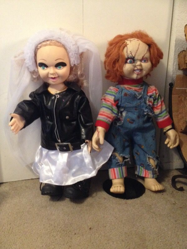 chucky and bride of chucky tiffany dolls halloween decorations for