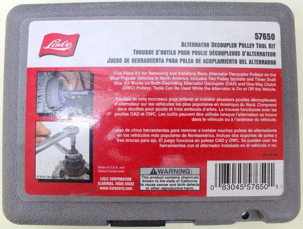 Lisle 57650 Alternator Decoupler Tool Set