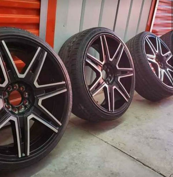 20 Inch Black & Chrome Rims Wheels For Sale In Maplewood