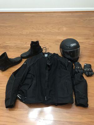 Motorbike Boots New Size 14. Jacket, Helmet, Gloves used for Sale in Lansdowne, VA