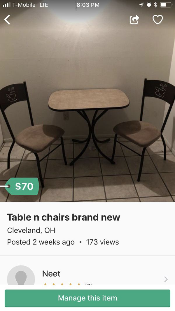 Table With 2 Chairs For Sale In Cleveland Oh Offerup