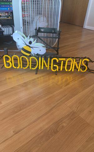 Boddingtons beer neon sign for Sale in Denver, CO